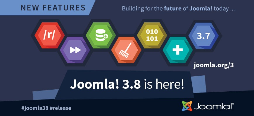 Joomla 3.8 is here with new features