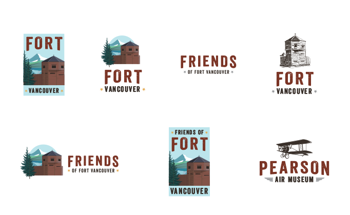 Friends of Fort Vancouver logo family